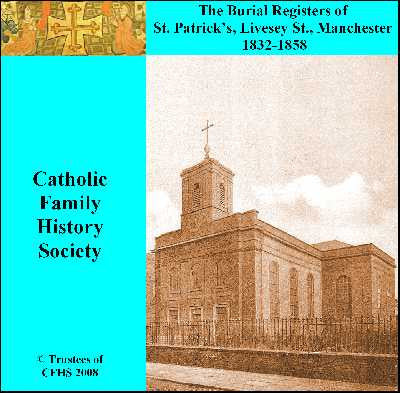 Manchester, St. Patrick (RC) Burials 1832-1858