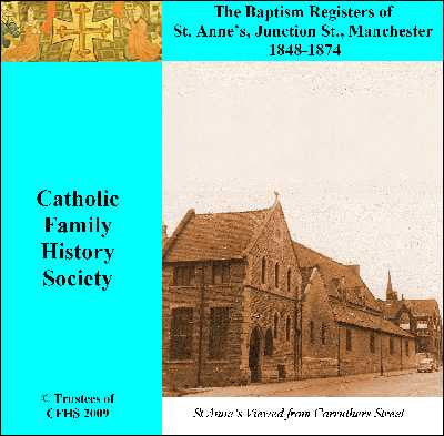 Manchester, St. Anne (RC) Baptisms 1848-1874