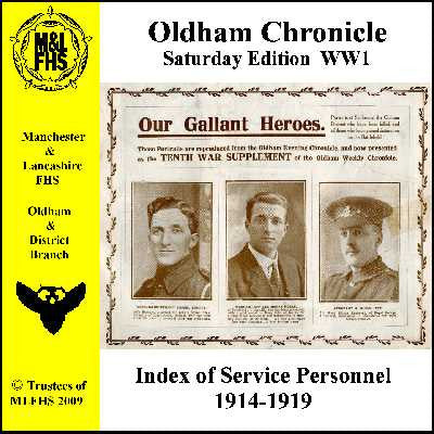 Oldham Chronicle WW1