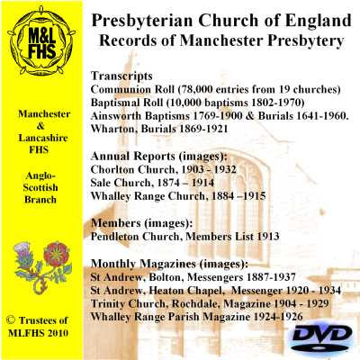 Presbyterian Church of England Records of Manchester Presbytery
