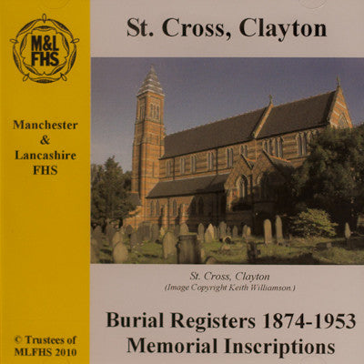 St Cross, Clayton, Burial Registers 1874-1953 MI's
