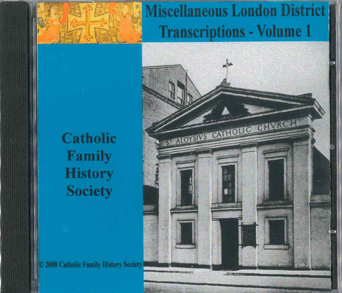 Miscellaneous London District Transcription Volume 1