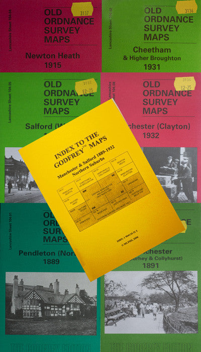 A Set of Manchester Northern Suburbs Maps 1889-1932