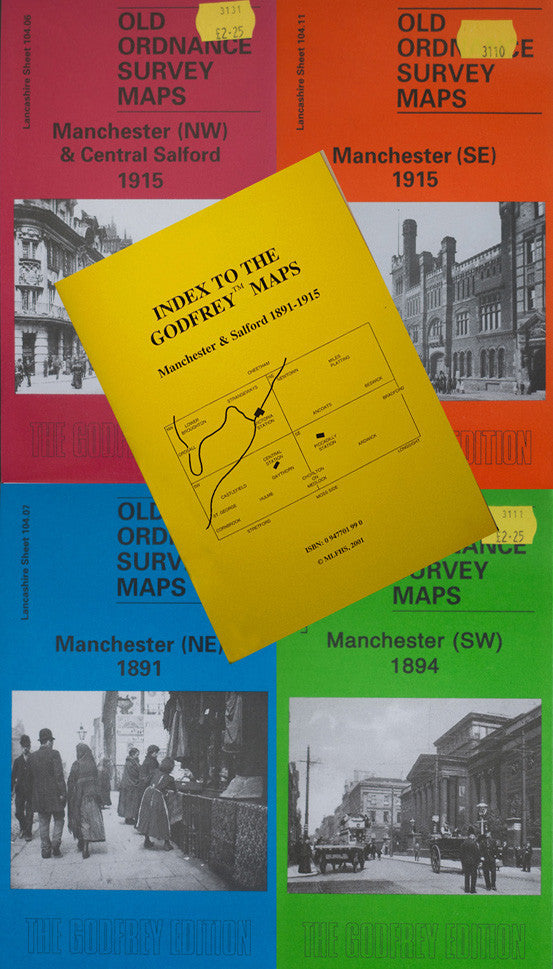 A Set of Manchester & Salford Central Maps 1891-1915