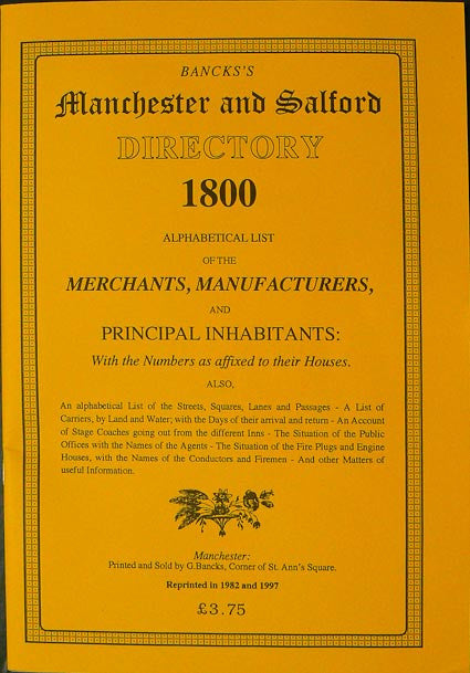 Bancks' Manchester and Salford Directory for 1800