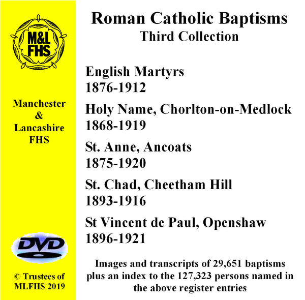 Five Catholic Church Baptisms DVD 3