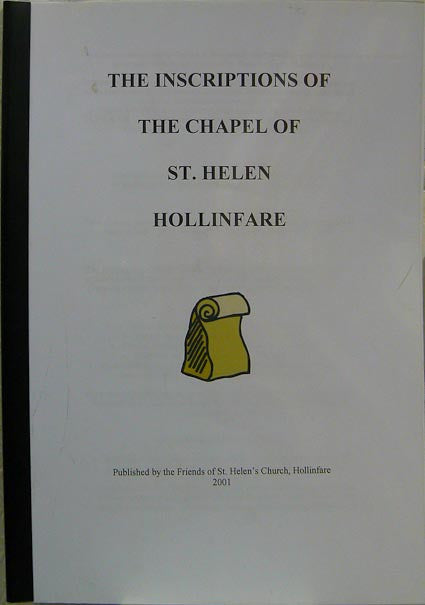 The Inscriptions of the Chapel of St. Helen, Hollinfare