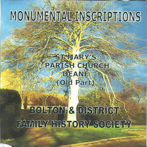 Deane, St. Mary. Monumental Inscriptions (Download)