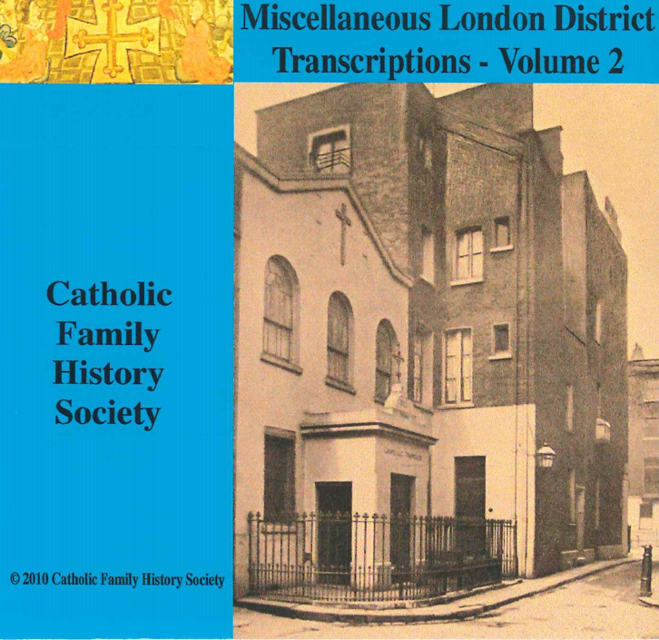 Miscellaneous London District Transcriptions Volume 2