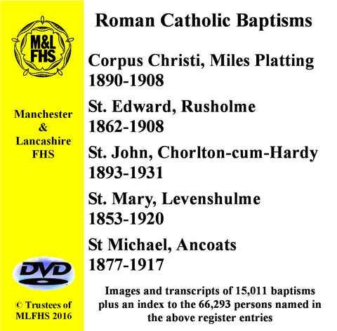 Five Catholic Church Baptisms DVD 1