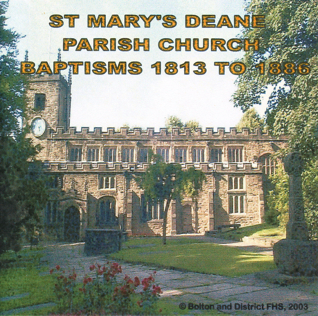 Deane, St. Mary. Baptisms 1813-1886 (Download)