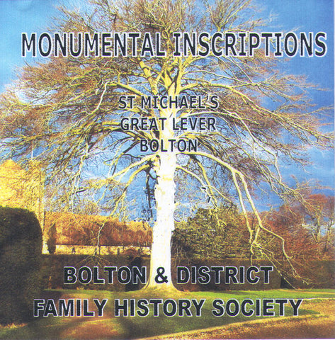 Great Lever, St. Michael's, Monumental Inscriptions (Download)