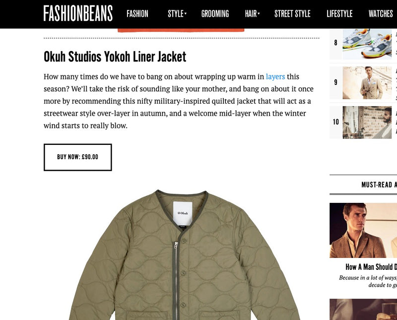 Liner Jacket - getting all the love in FASHIONBEANS