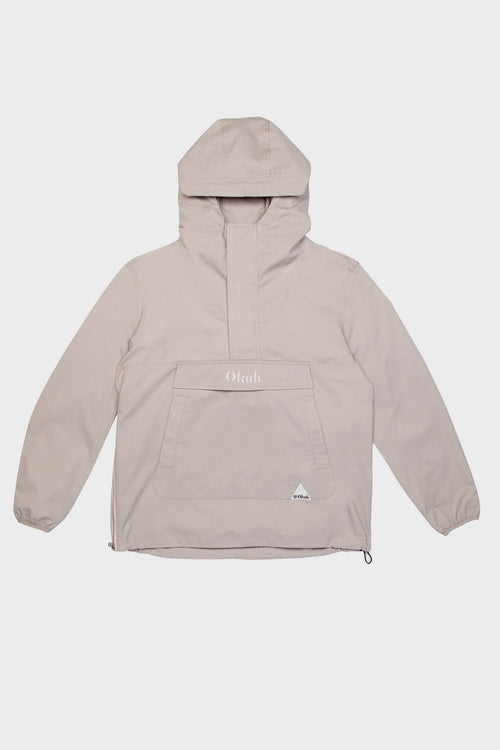 Lunar - Grey Over Head Jacket - okuhstudios