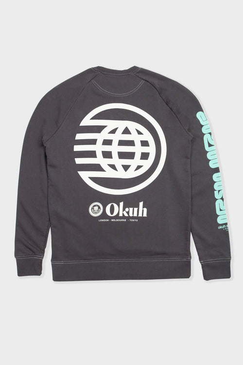 Nova - Washed Black Clash Colour Sweatshirt - okuhstudios
