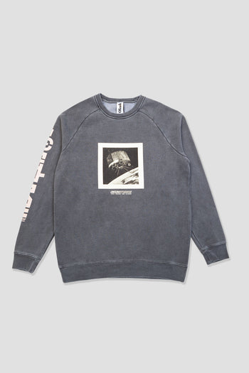 Vintage Black Satellite  Crew Sweatshirt
