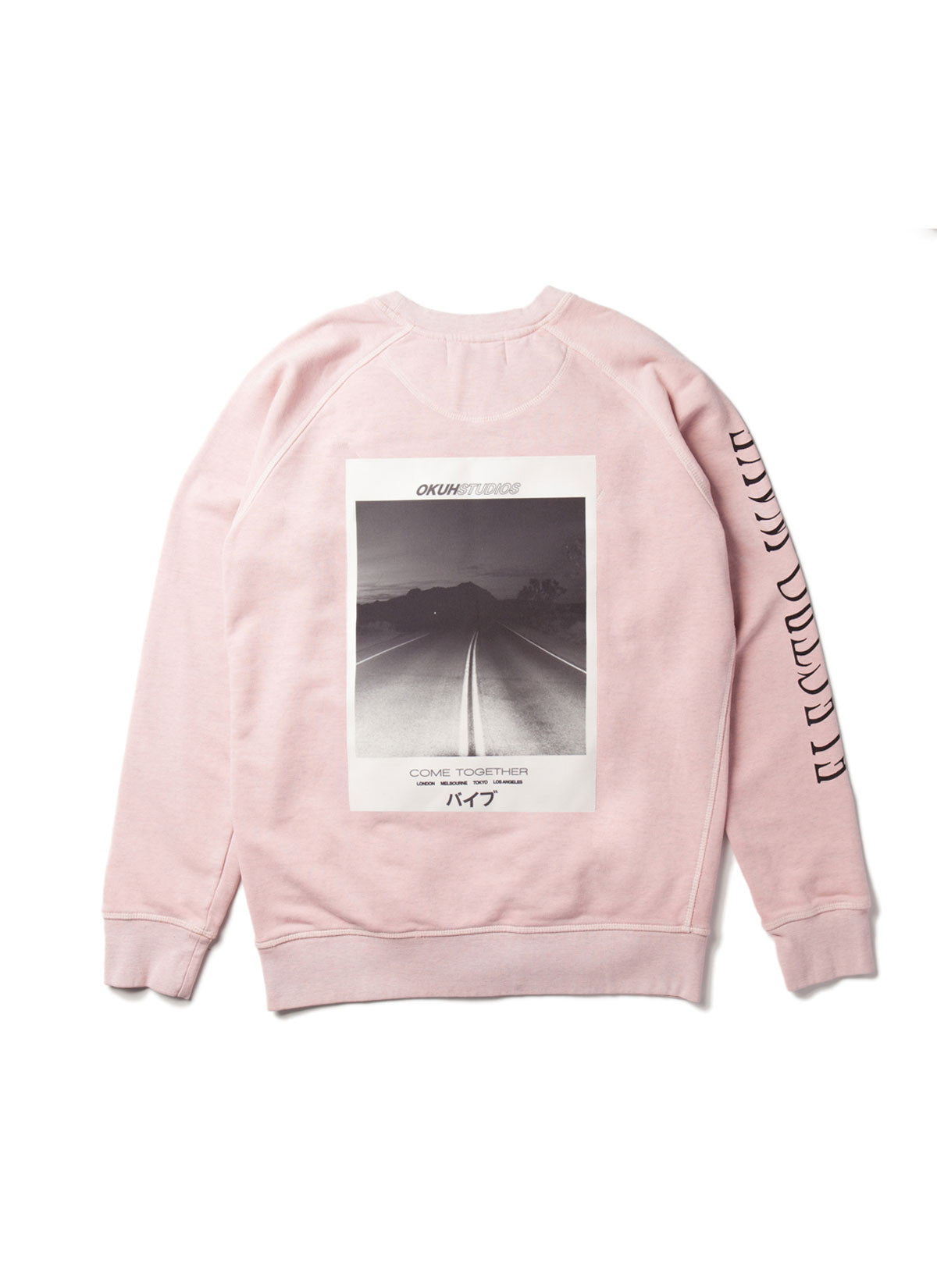 Electrowave Pink Sweatshirt by Okuh Studios, mens streetwear fashion brand, Back