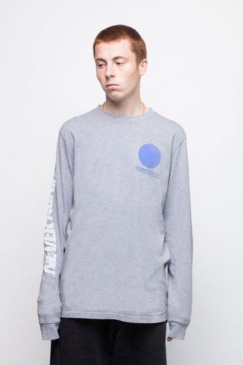 Grey Marl Never Again Long Sleeve T-Shirt
