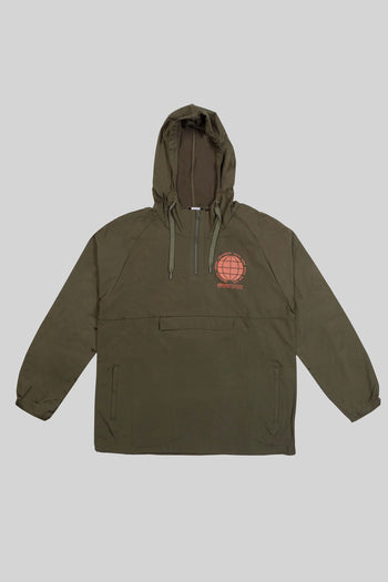 Olive Globe Chest Over Head Jacket
