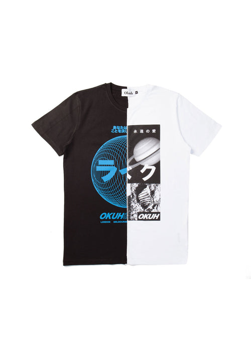 Sphere Cut & Sew T-Shirt by Okuh Studios, mens streetwear fashion brand, Front