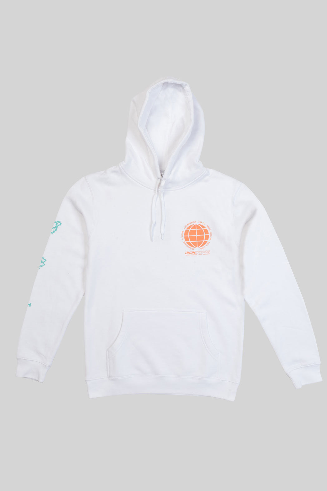 White Global Dance Hoodie Sweatshirt - okuhstudios