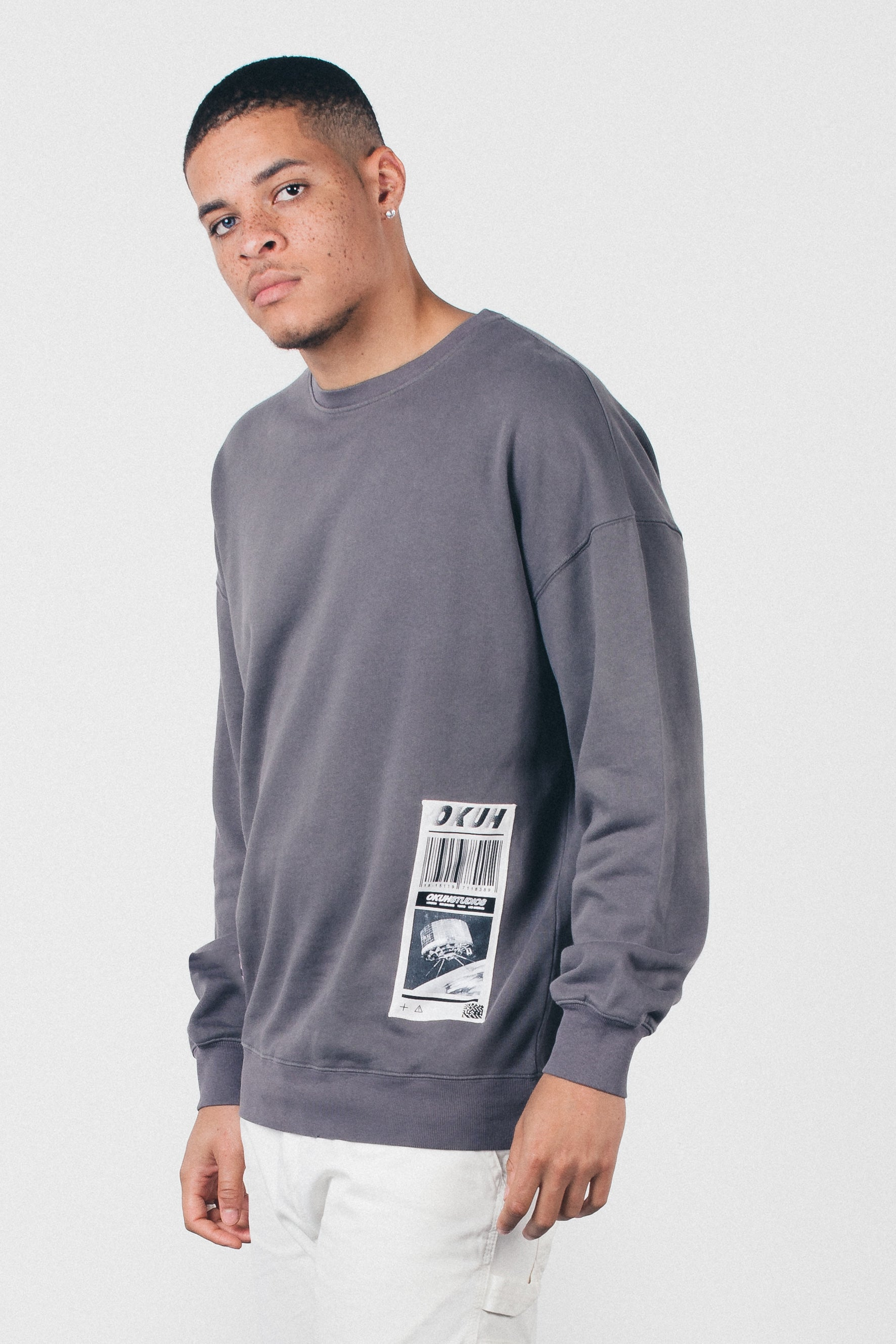 Code - Black washed Sweatshirt