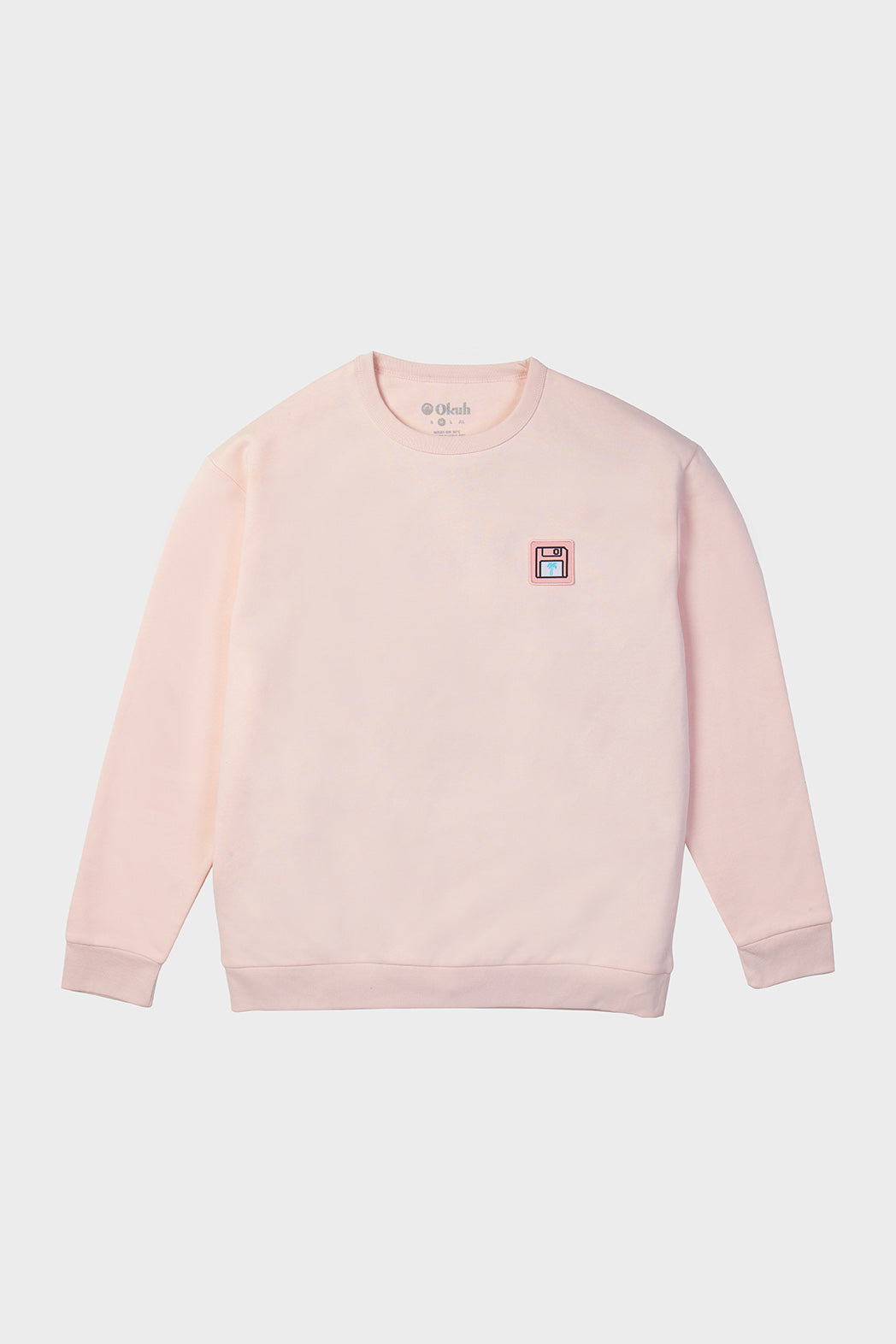 Pink Back Up Disc Sweatshirt - okuhstudios