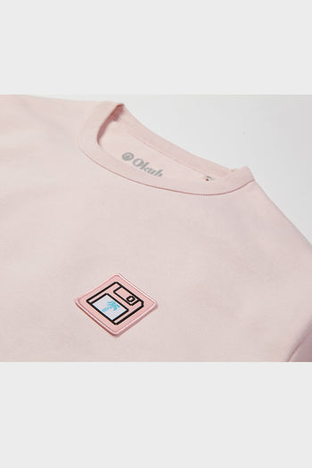 Pink Back Up Disc Sweatshirt