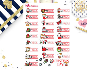 Holiday Countdown Stickers