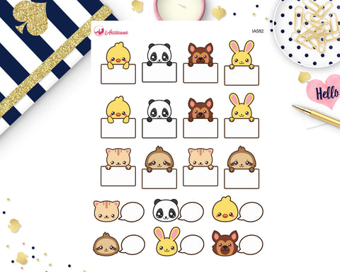 Animal Kawaii Box Stickers