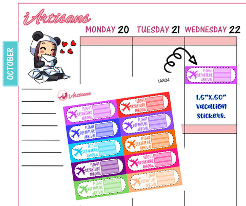 Flight Departure Planner Stickers