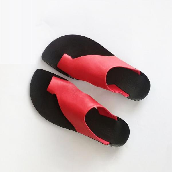 Thong mules in RED. 2018