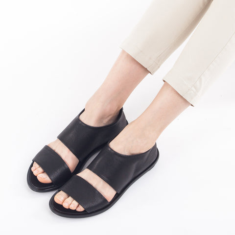 Open sandal shoes in Black. 93