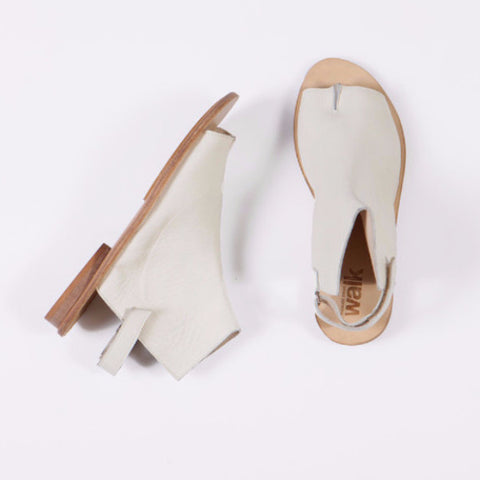 Tabi opened toe sandals, Cream. 98