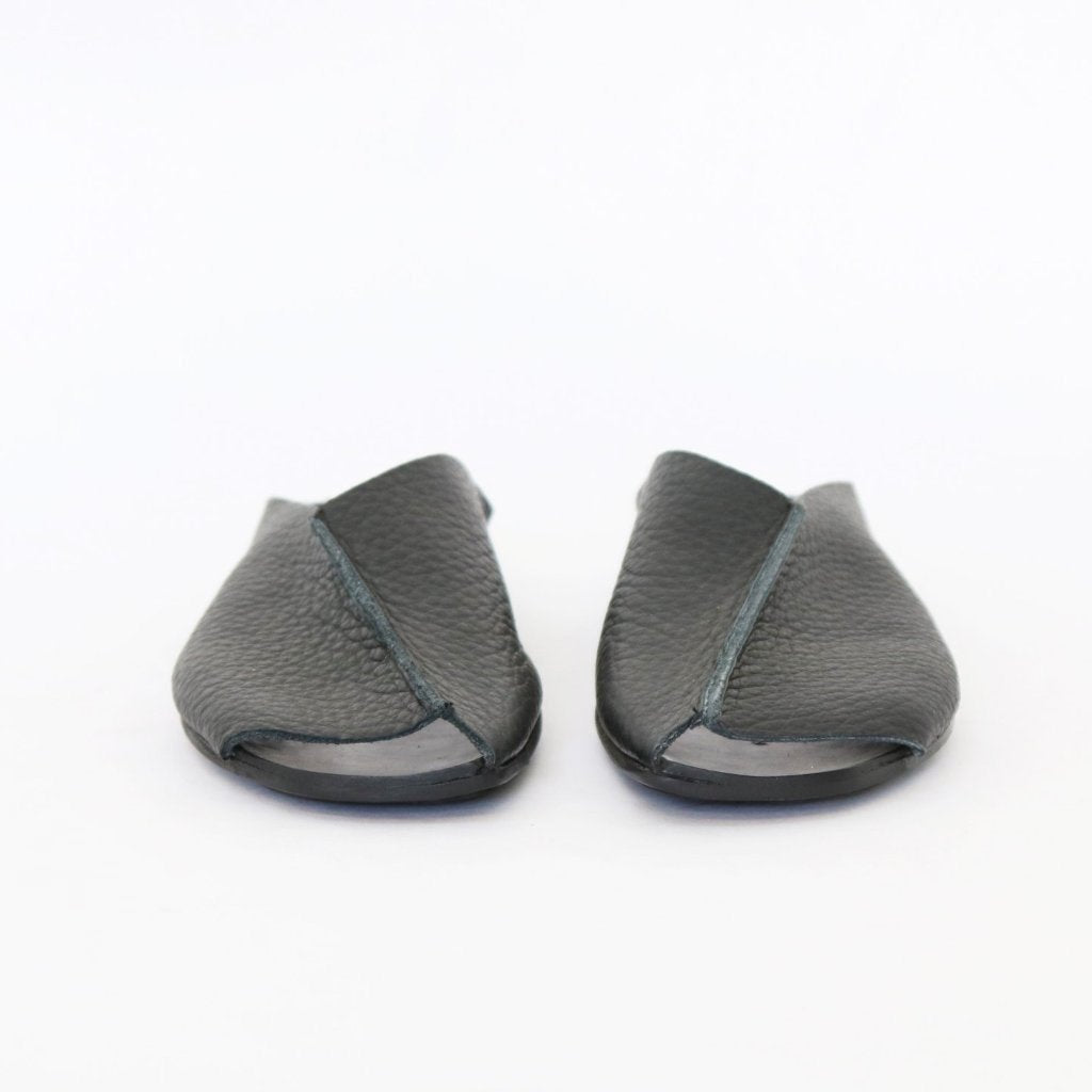 open toe Mules, Black. 460