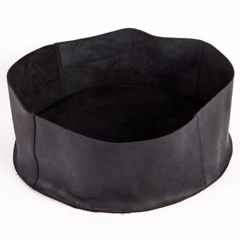 Black leather basket, Small
