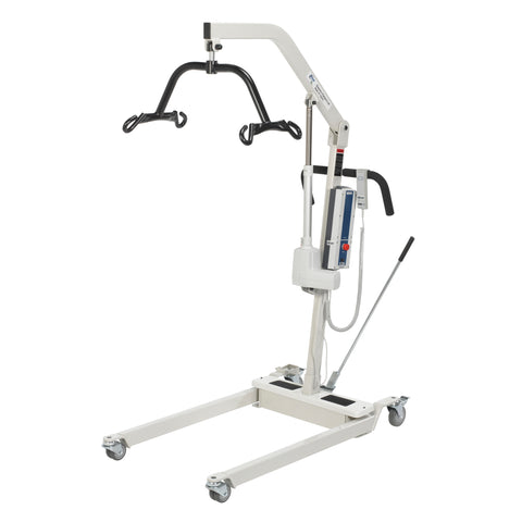 Bariatric Battery Powered Electric Patient Lift with Four Point Cradle and Rechargeable, Removable Battery, with Wall Mount