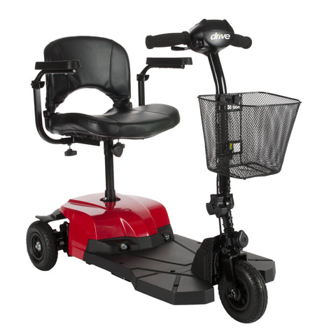 Bobcat X3 Compact Transportable Power Mobility Scooter, 3 Wheel, Red