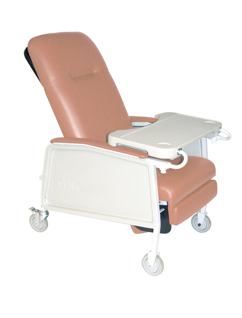 3 Position Heavy Duty Bariatric Geri Chair Recliner, Rosewood