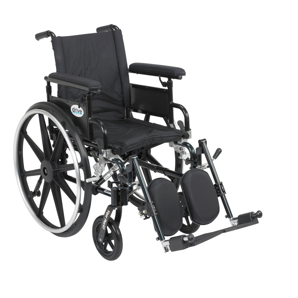 "Viper Plus GT Wheelchair with Flip Back Removable Adjustable Full Arms, Elevating Leg Rests, 16"" Seat"
