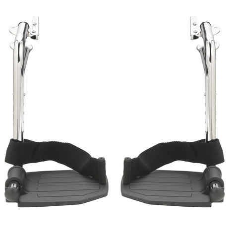 Chrome Swing Away Footrests with Aluminum Footplates, 1 Pair