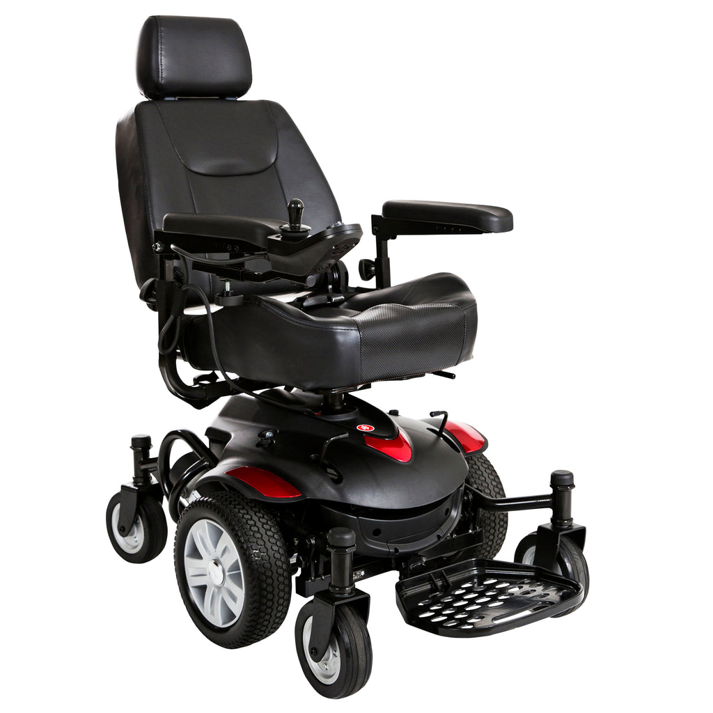 "Titan AXS Mid-Wheel Power Wheelchair, 18""x16"" Captain Seat"
