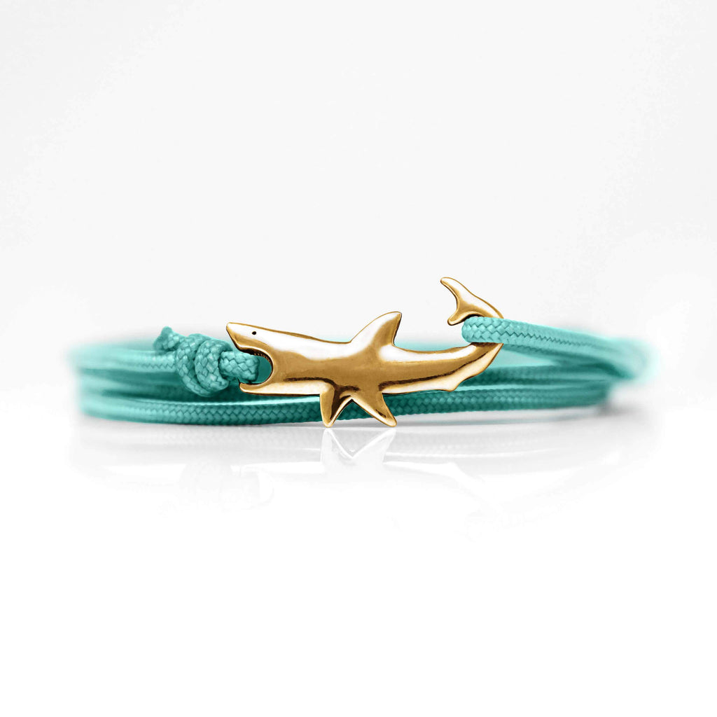 Bracelet - Great White Clasp Red Bronze Teal Surf