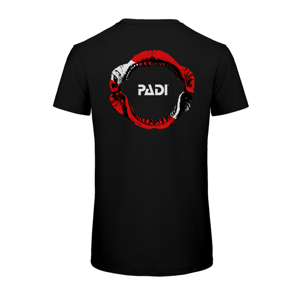 PADI GEAR - PADI Megalodon Dive Flag Black T-Shirt
