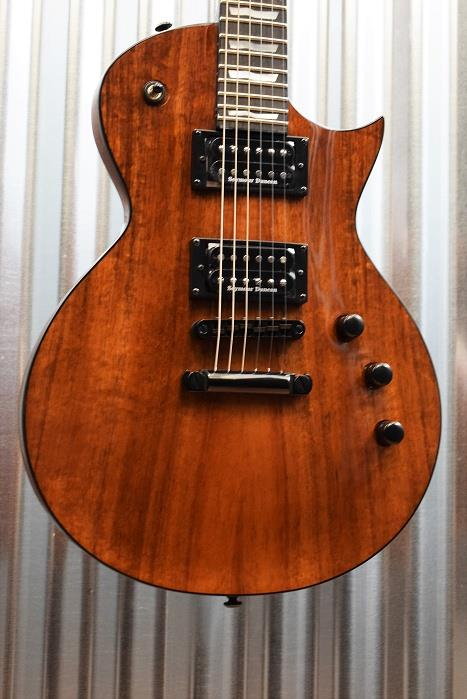 ESP LTD EC-1000 Koa Top Natural Gloss Seymour Duncan Pickups Guitar & Case #438