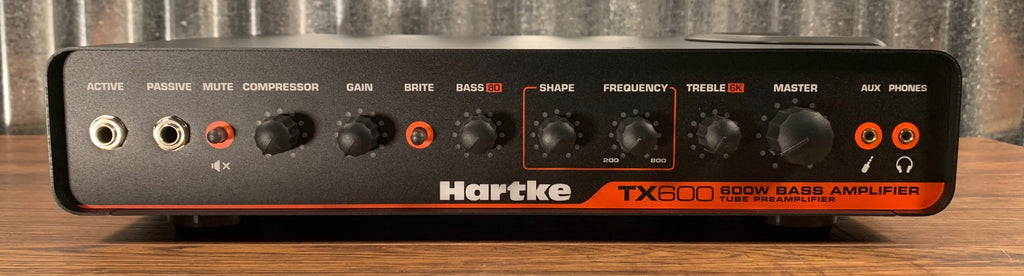 Hartke TX600 600 Watt Lightweight Tube Preamp Bass Amplifier Head