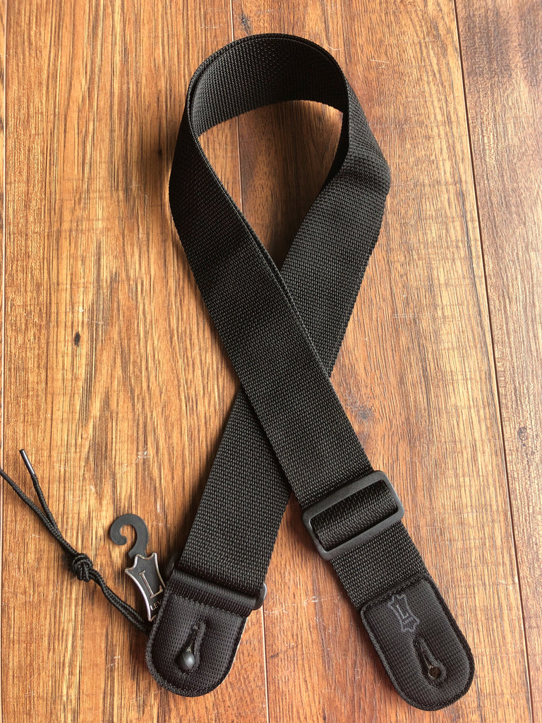 "Levy's Leathers M8POLY-BLK 2"" Black Adjustable Polypropylene Guitar Strap"
