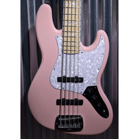 G&L Guitars USA JB5 5 String Jazz Bass JB Shell Pink & Case JB-5 2018 #1008