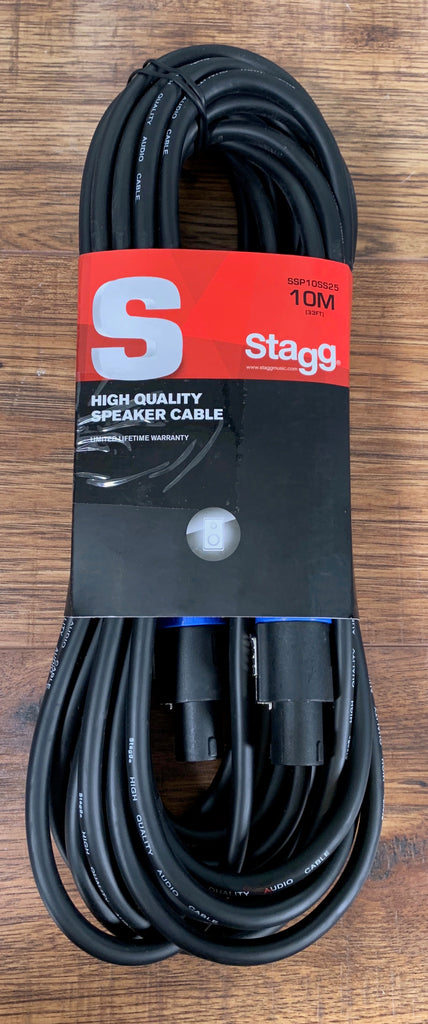 Stagg SSP10SS25 10M 33FT 14GA Speak-On to Speak-On Speaker Cable