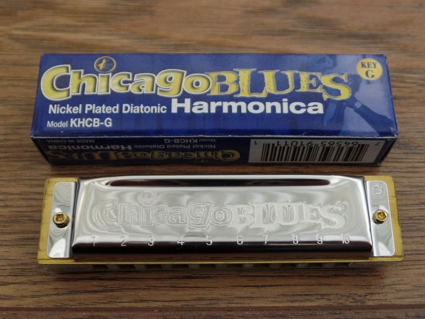 Chicago Blues KHCB-G Nickel Plated Diatonic Harmonica in Key of G *